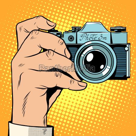 retro kamera schnappschuss selfie