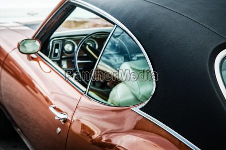 retro auto nahaufnahme
