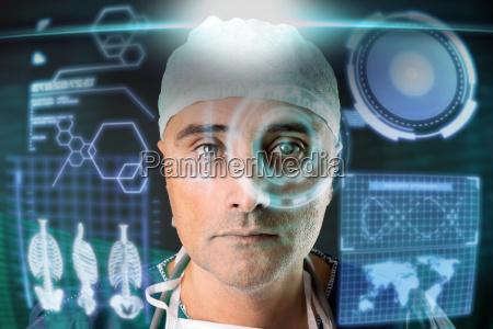 doktor mit bildschirmen