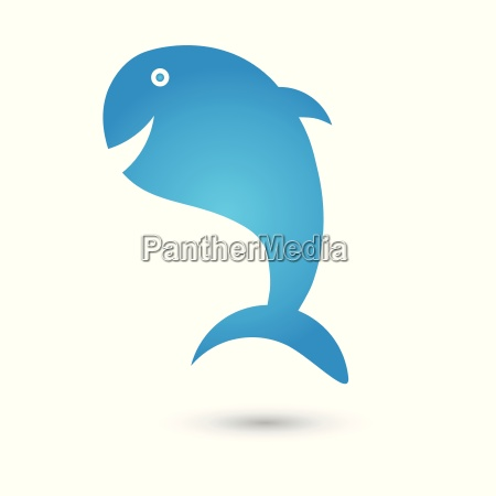 whale fish logo animal vector