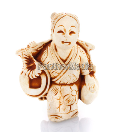 chinese culture figurine on a white