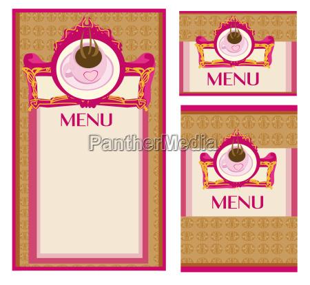 menue coffee shop und restaurant set