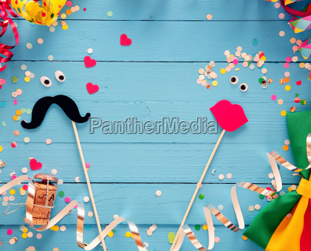 fun photo booth accessories festive background