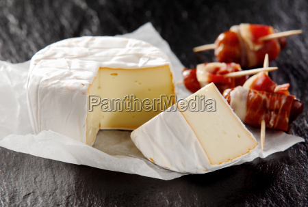soft cheese and cured meat appetizers