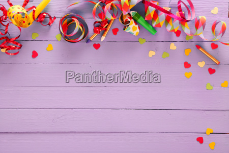 colorful festive party border and background