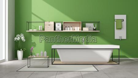minimalistische gruen bad