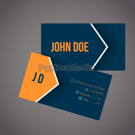 modern business card with arrow design