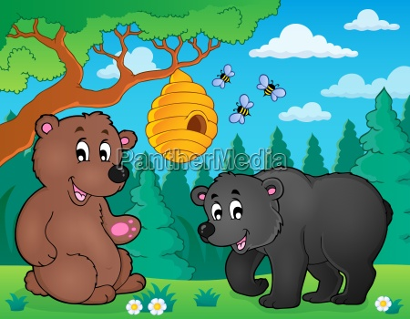bears in nature theme image 4