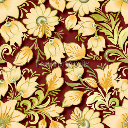 abstract vintage seamless floral ornament