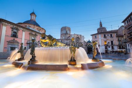 square of saint mary39s valencia spain