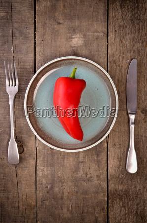 red fresh pepper