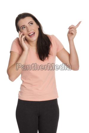 young woman on phone amused