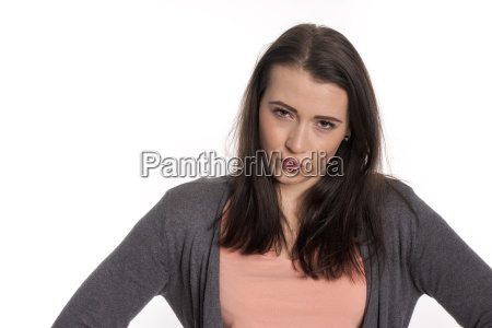 woman portrait is angry
