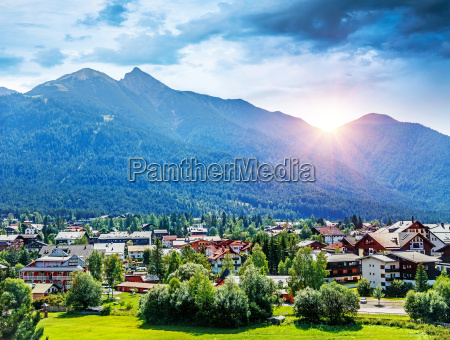 beautiful mountainous village