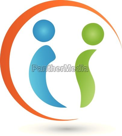 two people and circlelogovector