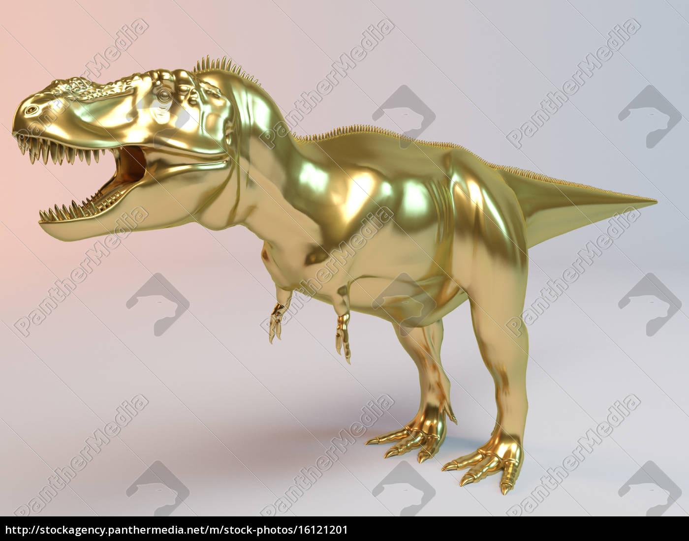 goldener, 3d, dino - 16121201