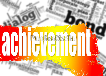 word cloud with achievement word