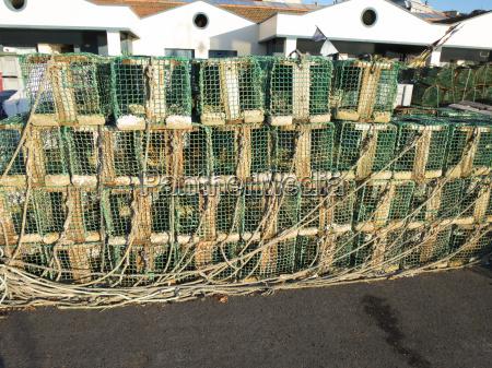 fisch getriebe fischfang port ausruestung kaefig