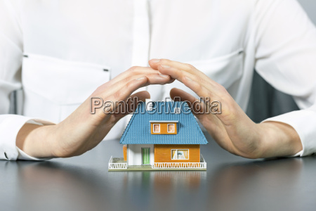 real estate insurance concept human