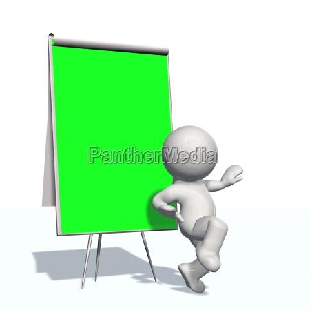green screen bord mit 3d menschen