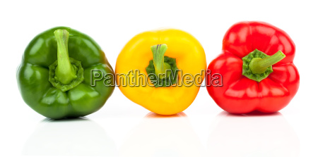 peppers various shades of red yellow