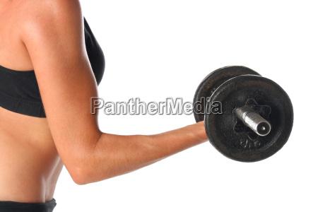 frau gesundheit sport freisteller lebensstil muskel