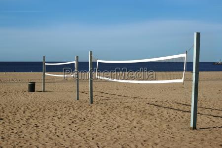 volleyballfeld am strand