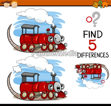 task of finding differences cartoon