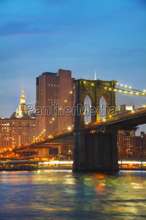 new york city stadtbild am abend