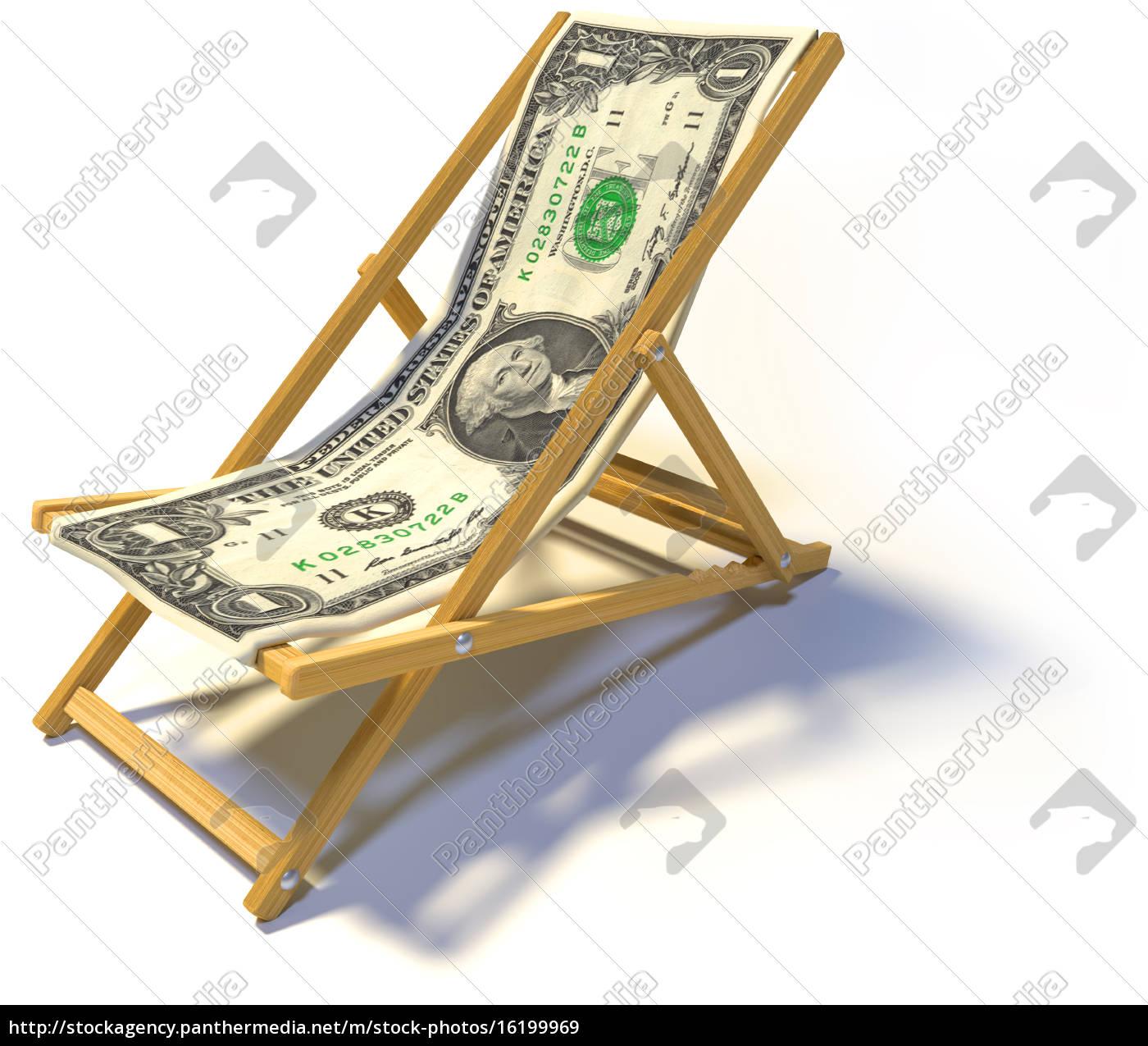 Klappliegestuhl  Klappliegestuhl mit 1 Dollar - Lizenzfreies Bild - #16199969 ...