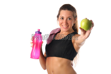 healthy lifestyle fitness woman drinking water