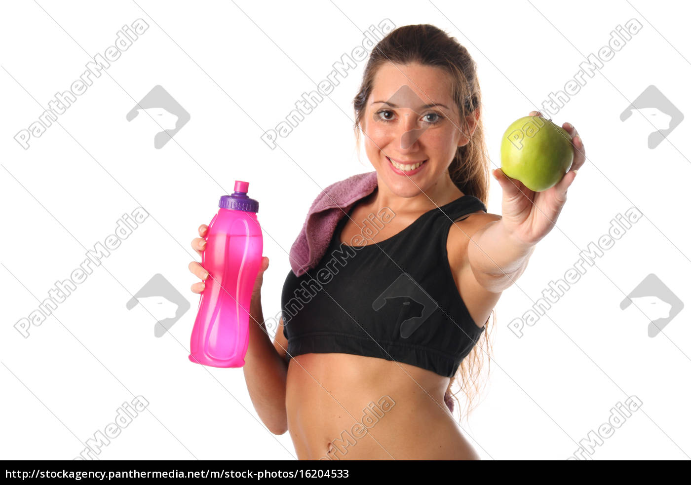 gesunder, lebensstil., fitness, frau, trinkwasser - 16204533