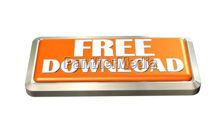 free download button isoliert auf