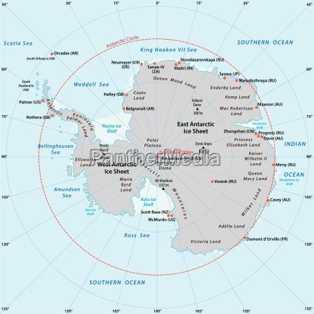 antarktische karte