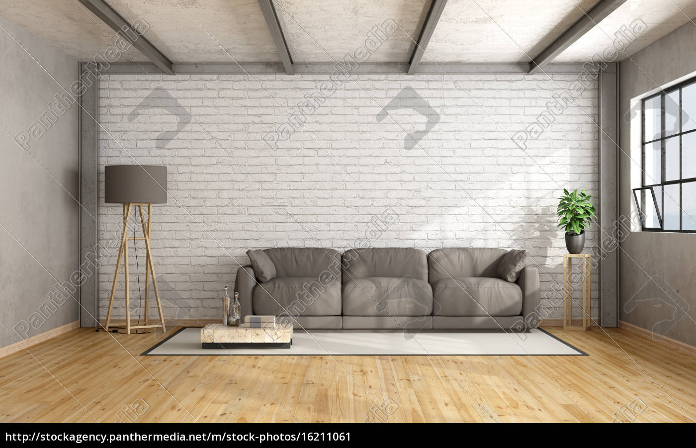 minimalistisches loft interieur - Stockfoto - #16211061 ...