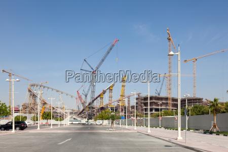 khalifa stadium under renovation in doha