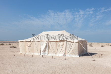 tent in qatar middle east
