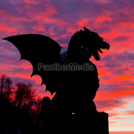 dragon bridge ljubljana slovenia europe