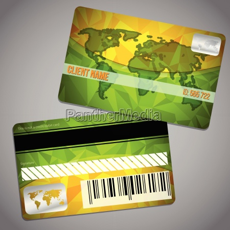 loyalty card with map and green