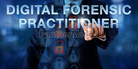 examiner pushing digital forensic practitioner