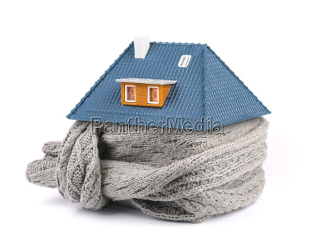 home insulation concept scarf around the