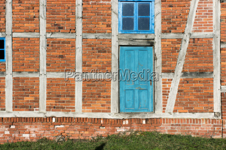 detail of a half timbered house
