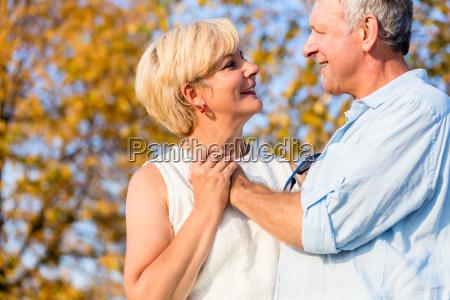 senior woman and man a couple