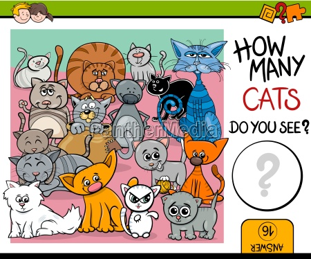 counting cats task for children