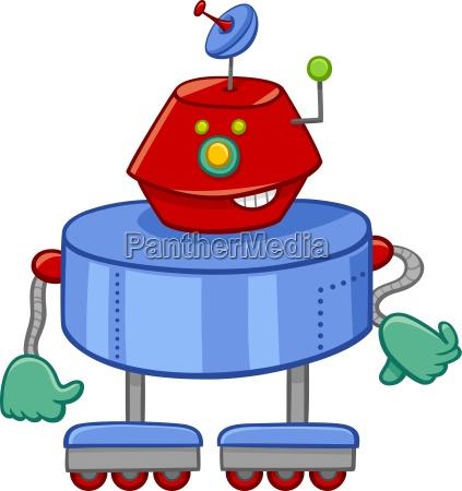 zabawny robot cartoon charakter