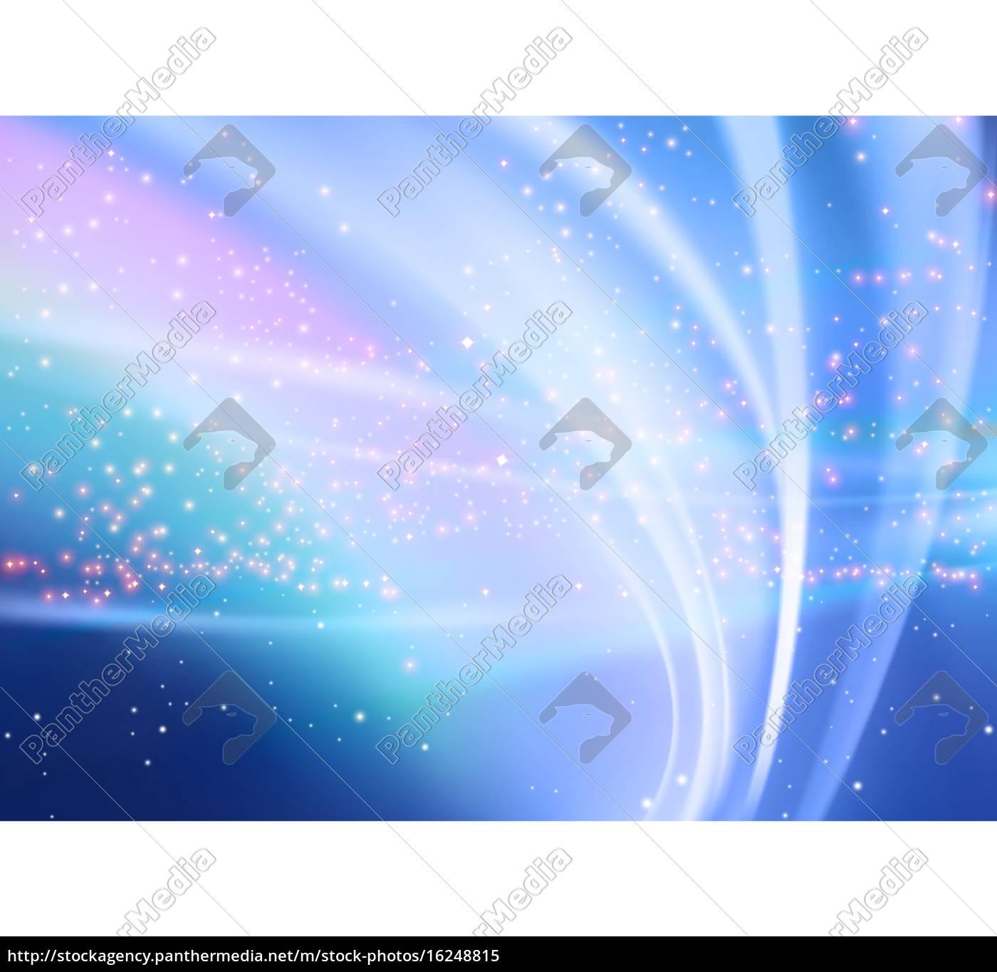 abstrakt, aurora, und, starry, hintergrund - 16248815