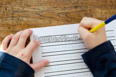lernen abc zu schreiben