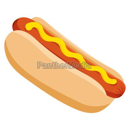 isolierte vektor leckersten hot dog illustration