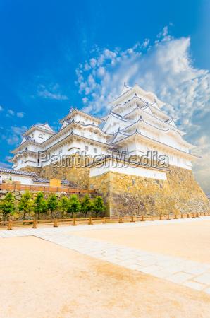 himeji jo castle inner yard keep