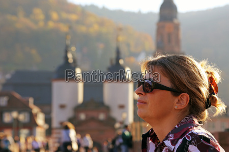 female tourist vacationer